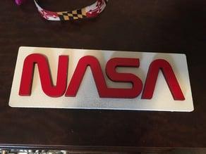 LASER CUT NASA WORM LOGO