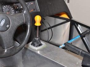 Skirted gear knob
