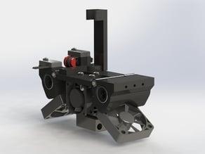RoBo3D Modular v2 X Carriage E3Dv6, Cyclops or Chimera by Mike Kelly