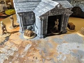 Fantasy Wargame Terrain - Necromancer Mausoleum/Crypt