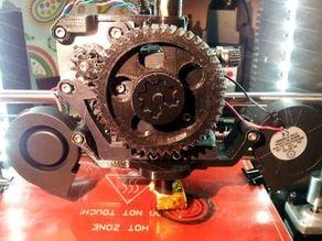 Simple dual centrifugal fan mount. Prusa I3 Gregs