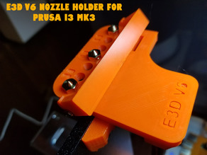 E3D v6 Nozzle Holder for Prusa i3 Mk3