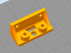 Prusa i3 Pro B Version 2 3D Touch mount with hole for cabels