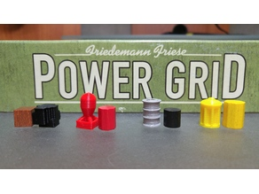 Power Grid game pieces