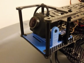 HoverShip - Zuul Superbeast - Servo Tilt Camera Mount for a FoxTechFPV -HoryzonHD Full HD V4