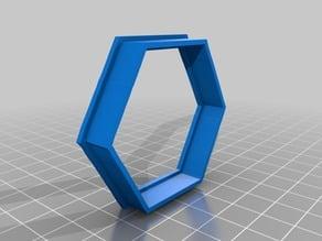 """hexagon 2"""" Cookie Cutter"""