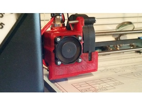MP Select Mini V2 E3DV6 hotend mount with aux blower