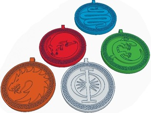 Ender's Game Army Logo Necklaces