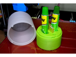 Epoxy stand/container with a lid (for tubes 25mm and 30mm)