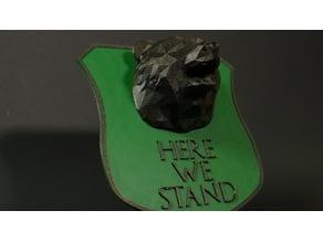 House Mormont House Sigil Shield
