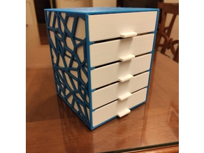 Customizable shelf with drawers