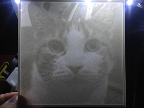 Zero the cat lithopane