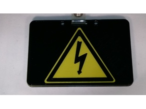 Simple bicolor electric shock risk ID or credit card holder!