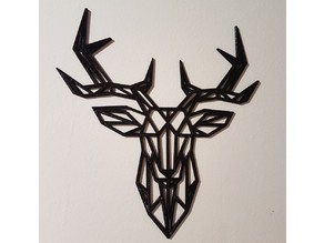 Geometric Deer Wall Sculpture