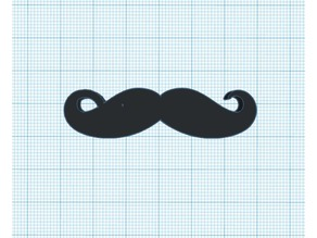 Movember moustache keychain