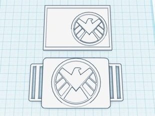 S.H.I.E.L.D. buckle and ID card