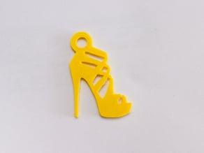 High heel sandal keychain