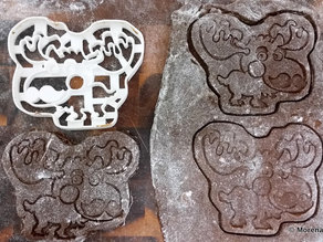 Moosember - cookie cutter for Movember