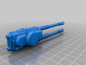 Dual Laser Cannon for X7 Repulsor Tank