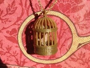 Bird in Cage Pendant