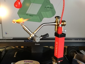 powerbank clamp for fly tying vise.
