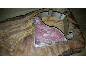 Dinosaur meat form, ham, bread and cookie cutter