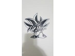 Goku Ui (Sign) 2D art