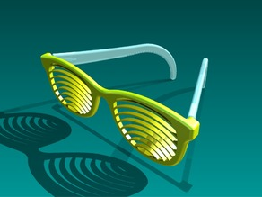 Shutter sunglasses (curved)