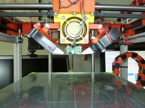 Radial print cooling fans for a CoreXY printer