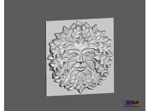 Green Man Bas Relief Wall Hanger