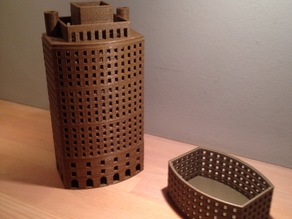 Decorative skyscraper can be used to store small items