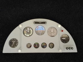 Scale cockpit of a Corby Starlet Home built Plane