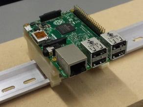 Raspberry Pi B+ / Raspberry Pi 2 DIN Rail Mount