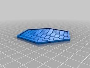 Hexagon mug mat