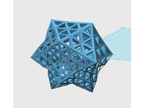 Complex Convex Geodesic Space Frame Model