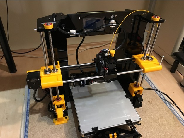 Anet A6 Z Anti Wobble Bearing Mount Top And Bottom By Tkris85 Thingiverse