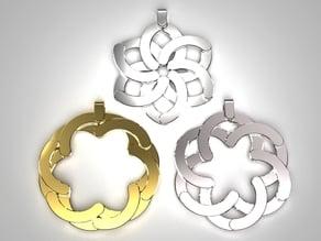 Expandable flower pendant / keychain