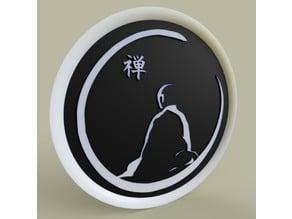 moine méditant - meditating monk