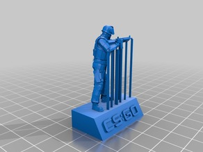 CSGO GIGN statue [WIP]