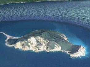 Guishan Island in Taiwan (Turtle Island) 龜山島