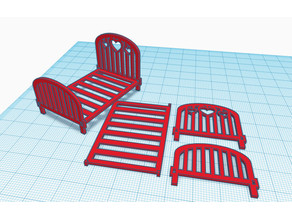Mountable Doll bed for Dollhouse
