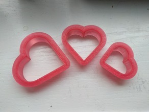 Nesting Heart Cookie Cutters (set of three sizes)