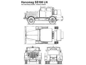 Hanomag SS-100 German WW 2 Heavy road tractor