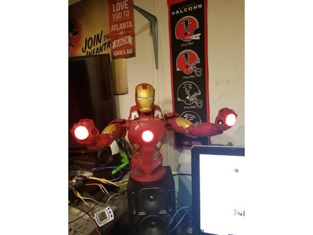 Google AIY Case Ironman Mark 7 torso and base Adafruit