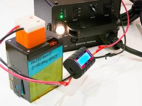 Profoto Acute B battery cassette test rig
