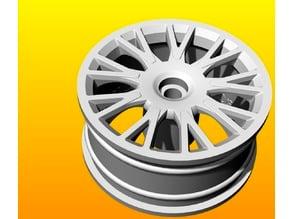 Volvo wheel rim 1/10 for RC cars 26mm x 52mm