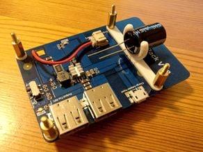 RPi PowerPack capacitor holder