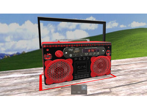 PE3D Ghettoblaster, Boombox, Bluetoothspeaker, Radio, Musik, DIY