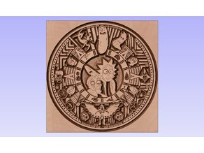 Rick and Morty Aztec Calendar