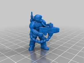 Kasrkin with Plasma Gun